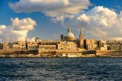 Ansicht nach Valletta, Malta lizenzfreies stockbild