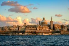 Ansicht nach Valletta, Malta stockfotografie