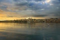 Ansicht nach Valletta, Malta stockbild