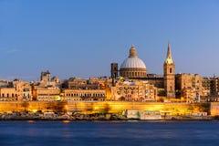 Ansicht nach Valletta, Malta lizenzfreie stockbilder