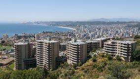 Ansicht nach Valparaiso Stockbild