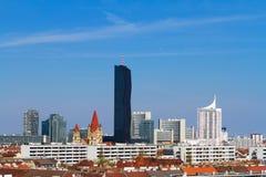 Ansicht nach Wien von der Seite des Prater-Vergnügungsparks Lizenzfreie Stockfotos