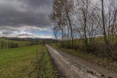Ansicht nahe Dorf Horni Studenky in Zabreh-Bereich Lizenzfreies Stockfoto