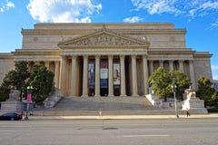 Ansicht am nationalen Archiv-Gebäude im Washington DC Lizenzfreies Stockbild