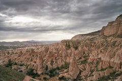 Ansicht Nationalparks Gereme in Cappadocia, die Türkei Unglaubliche Naturlandschaften Stockfotos