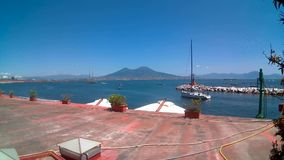 Ansicht Neapels Vesuvio stock footage