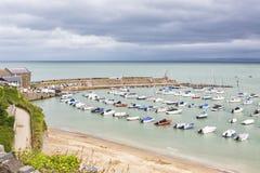 Ansicht neuen Quay-Hafens, Wales Großbritannien lizenzfreie stockbilder