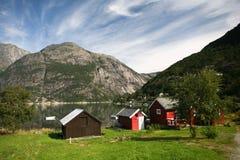 Ansicht in norwegischen Fjord Lizenzfreie Stockbilder