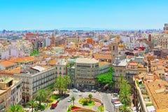 Ansicht oben auf Quadrat, Piazza der Königin Placa de la Reina herein Stockfotografie