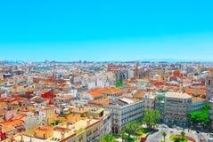 Ansicht oben auf Quadrat, Piazza der Königin Placa de la Reina herein Lizenzfreies Stockfoto