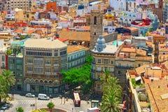 Ansicht oben auf Quadrat, Piazza der Königin Placa de la Reina herein Lizenzfreie Stockfotografie