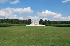 Ansicht am Palast des Zustandes Arhangelskoe Lizenzfreies Stockbild