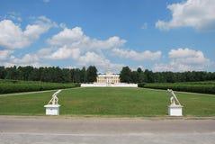 Ansicht am Palast des Zustandes Arhangelskoe Stockbilder