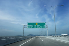 Ansicht 2. Penang-Brücke Stockbilder
