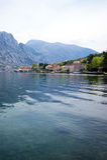 Ansicht Prcanj, Montenegro Lizenzfreie Stockbilder