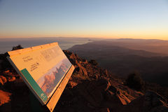 Ansicht in Richtung in Richtung Gibraltar und zu Afrika Stockbilder