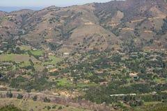 Ansicht in Richtung zu Carmel Valley von Garland Ranch Regional Park, Kalifornien lizenzfreies stockbild
