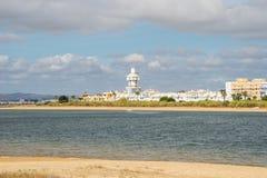 Ansicht in Richtung zu Isla Cristina lizenzfreies stockbild