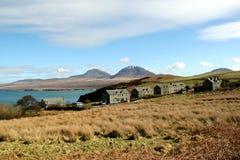 Ansicht in Richtung zu Jura von Bunnahabhain, Islay, Schottland Lizenzfreie Stockfotos