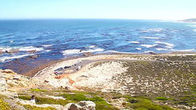Ansicht in Richtung zu Kapstadt vom Umhang-Punkt, SüdAfri stock video footage