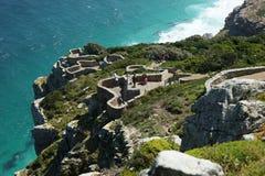 Ansicht in Richtung zu Kapstadt vom Umhang-Punkt, SüdAfri Lizenzfreie Stockfotos