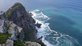 Ansicht in Richtung zu Kapstadt vom Umhang-Punkt, SüdAfri stockbild