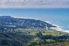 Ansicht in Richtung zu Montara von McNee-Ranch, Kalifornien lizenzfreie stockfotografie