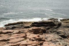 Ansicht in Richtung zu Newport-Bucht im Acadia-Nationalpark Stockfotos