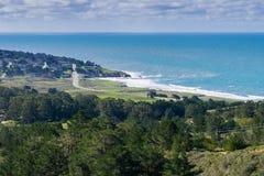 Ansicht in Richtung zur Pazifikküste und zum Montara, McNee-Ranch, Kalifornien lizenzfreie stockfotografie