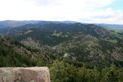 Ansicht Rocky Mountainss in Denver lizenzfreie stockfotografie