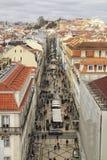 Ansicht Rua Augusta von den Höhen stockfotos