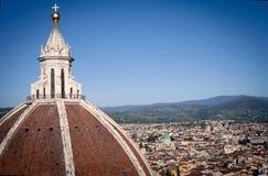Ansicht Santa Mariadel Fiore vom Belfry Lizenzfreies Stockbild