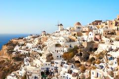 Ansicht Santorini Oia lizenzfreies stockbild