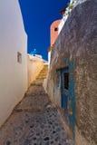 Ansicht Santorini Oia des Dorfs Lizenzfreie Stockfotos