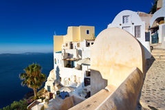 Ansicht Santorini Oia des Dorfs Stockbild