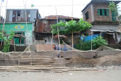 Ansicht in schlechtem Haupt-Dhaka Bangladesch stockfoto