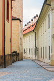 Ansicht schmaler Jirska Straße in Prag-Schloss Stockfotos