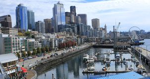 Ansicht in Seattle, Washington har stock footage