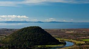Ansicht am See Taupo in der Nordinsel in Neuseeland lizenzfreie stockfotografie