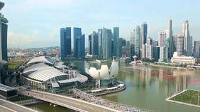 Ansicht in Singapur stock video