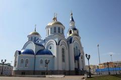 Ansicht am Tempel von Kasan-Ikone der Mutter des Gottes in Saransk, Repulic Mordwinien Lizenzfreies Stockfoto