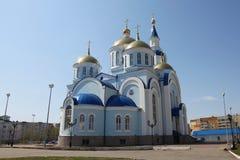 Ansicht am Tempel von Kasan-Ikone der Mutter des Gottes in Saransk, Repulic Mordwinien Lizenzfreie Stockfotografie