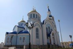Ansicht am Tempel von Kasan-Ikone der Mutter des Gottes in Saransk, Repulic Mordwinien Lizenzfreie Stockfotos