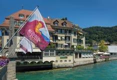 Ansicht in Thun-Stadt Lizenzfreie Stockbilder