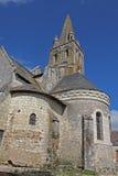 Ansicht, typisches Dorf, Loire Valley, Frankreich Lizenzfreies Stockbild