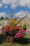 Ansicht, typisches Dorf, Loire Valley, Frankreich Lizenzfreie Stockfotografie