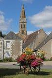Ansicht, typisches Dorf, Loire Valley, Frankreich Lizenzfreie Stockbilder