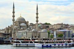 Ansicht und Anblick von Bosphorus, Istanbul, die Türkei Blaue Moschee stockbild
