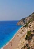 Langer sandiger Strand Stockbilder