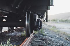 Ansicht unter den Zug stockbilder